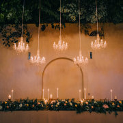 chandelier, decor, main table