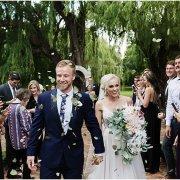 bouquets, bride and groom, bride and groom, bride and groom, confetti