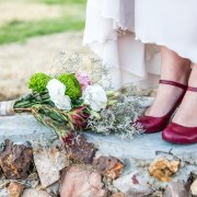 bouquet, shoes