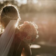 bouquet, bride, veil