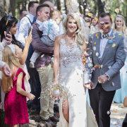 confetti, wedding dresses