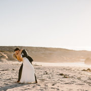 beach, bridal couple