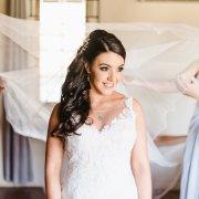 hair, makeup, wedding dress