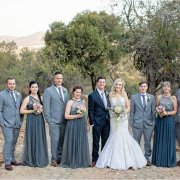 grey, wedding party