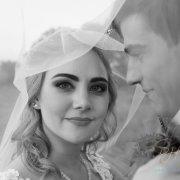 bride, groom, hair, makeup, makeup, veil