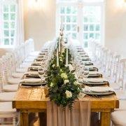 greenery, roses, table decor