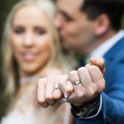 bride, groom, wedding bands