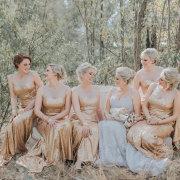 bridesmaids dresses, gold