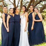 bride and bridesmaids, bridesmaids dresses, bridesmaids dresses, navy