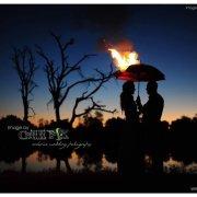 chillipix, burning umbrella, surrealistic wedding photography