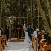 forest, outdoor ceremony, wedding arch