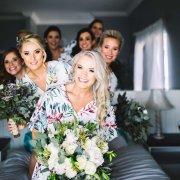 bouquet, bride and bridesmaids
