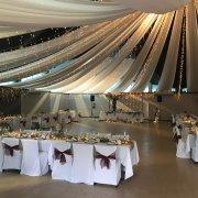 draping, fairy lights, wedding decor