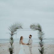 beach wedding, wedding arch