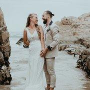 beach wedding, bride and groom, bride and groom, bride and groom