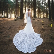 forest, lace, wedding dress