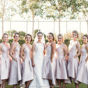bride and bridesmaids, bridesmaids dresses