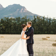 bride and groom, mountain