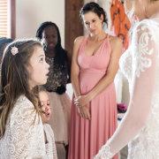 bride, bride and bridesmaids, bride and flowergirl, flower girls