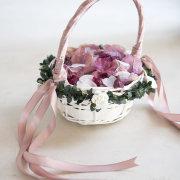 dried flowers, flower girls, petals, wedding confetti