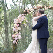floral, kiss, kiss, wedding arch, first kiss, forest wedding, sealed with a kiss