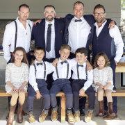 flower girls, groom and groomsmen, page boys, ring bearer