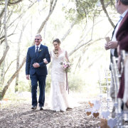 aisle, ceremony, ceremony entrance, father of the bride, fatherofthebride, forest ceremony, forest wedding