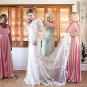 bride, bride and bridemaids, lace wedding dress, mermaid wedding dress, mother of the bride, bride of the year
