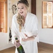 champagne, bride, celebration, happy bride, priceless