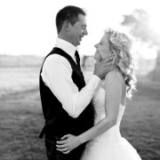 bride, groom, smile