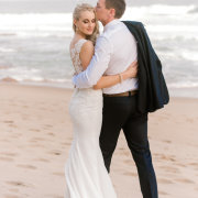 beach, bride and groom, bride and groom