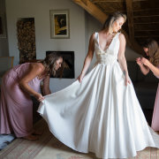 bride, dress, getting ready