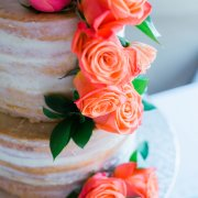 cake, roses