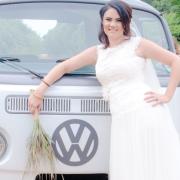 bride, volkswagen, minibus