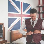 tie, waistcoat, burgandy