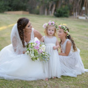 bride, flower girls