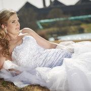 hair, wedding dress
