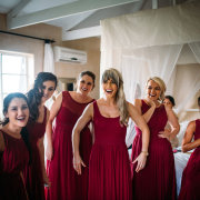 bridesmaids dresses, red
