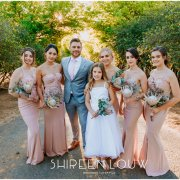 bridesmaids, bridesmaids, flower girl, groom