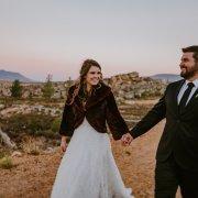bride and groom, bride and groom, fur jacket