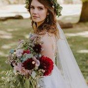 bouquets, bride, flower crown
