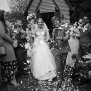 bride and groom, bride and groom, confettii