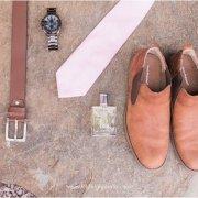 belt, grooms accessories, grooms shoes, tie, watch