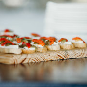 canapes, food
