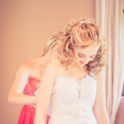 hair, wedding dress