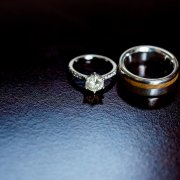 engagement ring, wedding band