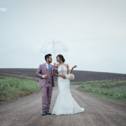 bride and groom, bride and groom, suits, umbrella, wedding dresses, wedding dresses
