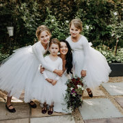 bouquets, bride, flower girls, flower girls dresses