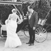 bride and groom, bride and groom, carriage