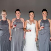 bridesmaids dresses, grey